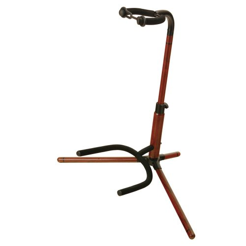 - On-Stage WGS100 Wooden Guitar Stand, Rosewood Finish