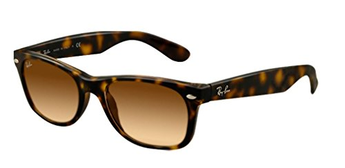 Ray-Ban RB2132 New Wayfarer Sunglasses, Light Tortoise/Brown Gradient, 55 mm