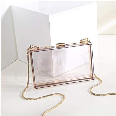 raccoglitore da borsa mini lembo donne bianca semplice delle Moda Trasparente sera catena casuale del borsa tracolla borsa 4 acrilico colori partito Pnizun qZ8zPw