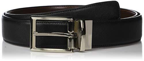 Perry Ellis Men's Portfolio Saffiano Reversible Belt, black/Brown, 36 (Men Dress Reversible Belts)