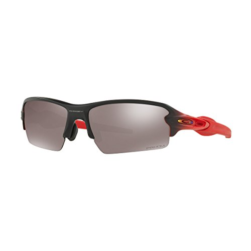 (Oakley Men's Flak 2.0 (a) Polarized Iridium Rectangular Sunglasses, RUBY FADE, 61 mm)