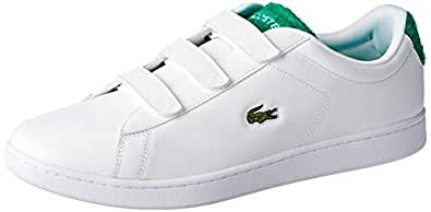 Lacoste Carnaby EVO Strap 119 3 Fashion Shoes, WHT/GRN, 10 US