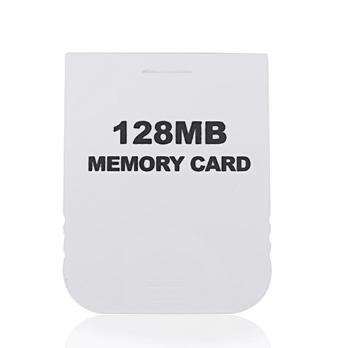 HDE 128MB (2048 Blocks) White Memory Card for Nintendo GameCube or Wii Consoles ()