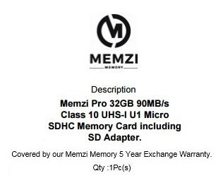 MEMZI PRO 32GB Class 10 90MB/s Micro SDHC Memory Card with SD Adapter for Samsung Galaxy S8, S8+, S8 Plus, S7, S7 Edge, S7 Active Cell Phones