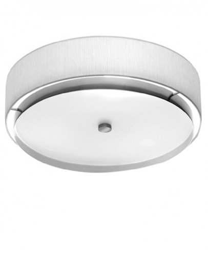 Miris Flush Mount Ceiling Light - 220 - 240V (for use in Australia, Europe, Hong Kong etc.), white, small - Flush Estiluz