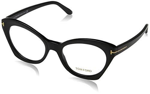 Tom Ford FT5456 Eyeglass Frames - Matte Black Frame, Matte Black Lenses, 52 mm Lens ()