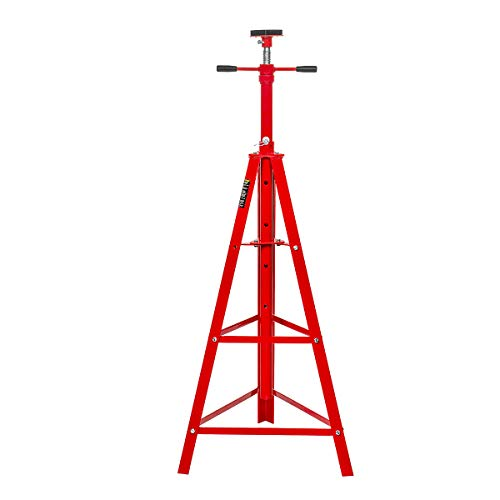 Stark Underhoist Tripod Stand 2 Ton Capacity High Lift Jack Stand Reach Under Hoist Stand High-Position Lift Range, Red
