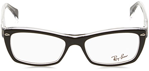 Ray-Ban Women's Rx5255 Square Eyeglasses,Top Black & Transparent,51 mm by Ray-Ban (Image #2)