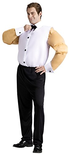 UHC Male Stripper Fat or Sexy Muscle Funny Theme Adult Suit Halloween Costume, Sexy, (Male Stripper Halloween Costumes)