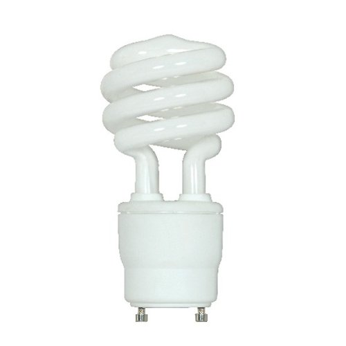 (24-Pack) Satco S8208 13-Watt 4100K GU24 Base Mini Spiral Compact Fluorescent Lamp, 60W Equal