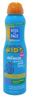 Kiss My Face Spf#30 Sunscreen Defense Kids Spray Lotion 6oz