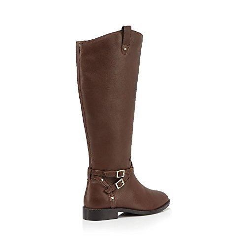 Womens Debenhams Tan Boots Calf Length Faith 'Millie' 0rOzzqP5vw