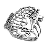 Sterling Silver Seahorse Ring Sizes 3-9