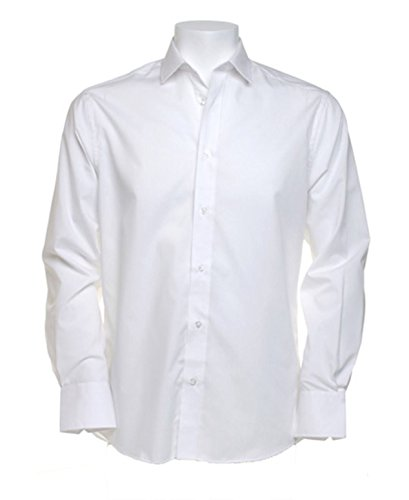 Kustom Kit Tailored Fit Business-Shirt langärmlig KK131weiß 16