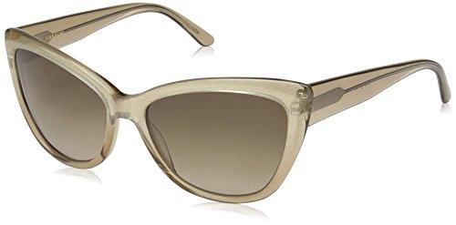 Vera Wang Women's V433 Cateye Sunglasses, Gold Dust, 57 mm