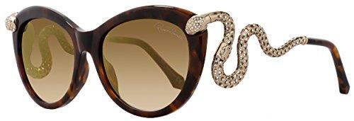Roberto Cavalli Menkab 889S 889/S 50F Tortoise Rhinestone Snake Sunglasses - Cavalli Sunglasses Roberto Snake