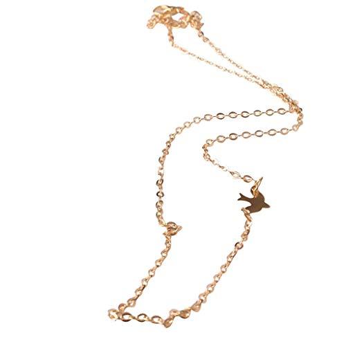 - XBKPLO Necklaces for Women Peace Dove Cord Bib Collar Choker Pendants Simple Summer Collar Wild Adjustable Statement Necklace Ladies Jewelry