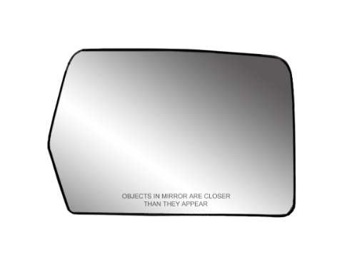 Mirror Heated Side Passenger - Fit System 30194 Passenger Side Heated Replacement Mirror Glass with Backing Plate