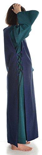 Mittelalter mit grün HEMAD Blau Skapulier Damenkleid S mit Baumwolle XL Grün Damen Leinenstruktur Kleid fwRpR