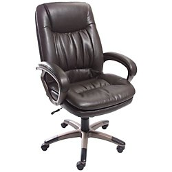 fice DepotR Brand Harrington High Back Leather Chair Antique Brown