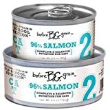 """Before Grain Salmon Formula Canned Cat Food """"2"""" (24/5.5-oz cans), My Pet Supplies"""