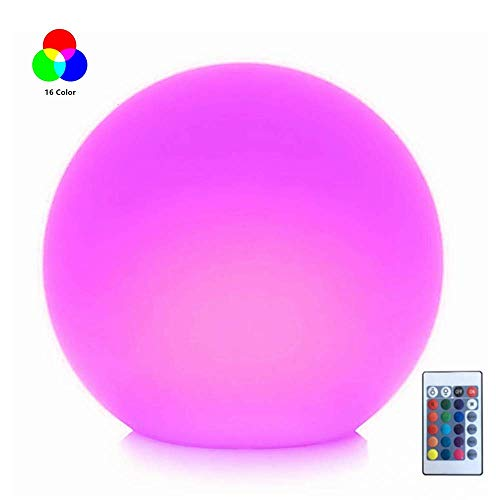 LED Ball Light, 8-Inch Rechargeable Mood Lights Multicolor Changing IP68 Waterproof Indoor/Outdoor Light for Home/Party/Pool/Lawn Decoration