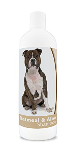 Healthy Breeds Aloe & Oatmeal Dog Shampoo for Staffordshire Bull Terrier - Over 200 Breeds - 16 oz - Mild & Gentle for Sensitive Skin - Hypoallergenic Formula & pH Balanced