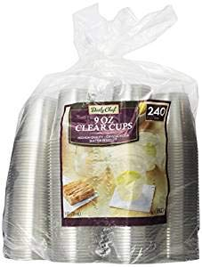 Daily Chef Clear Plastic Cups, 240 Count ( 9 oz Cups )