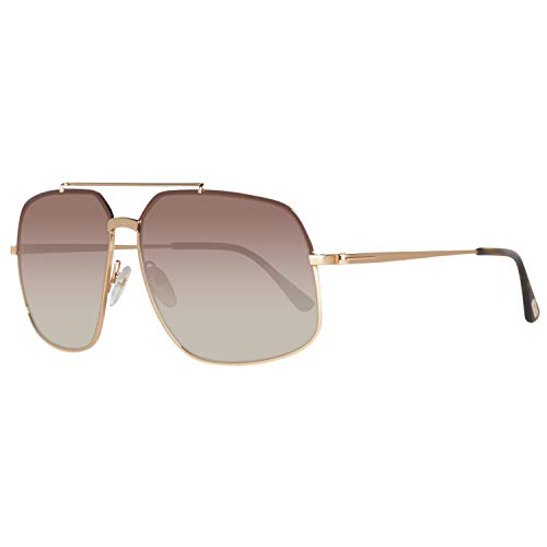 Tom Ford Ronnie FT0439 Sunglasses - 48F Shiny Dark Brown (Brown Gradient Lens) - 60mm (Sonnenbrille 1)