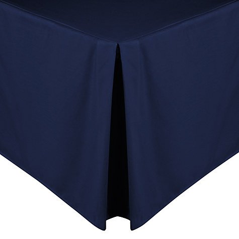 Hometex|| Luxury Poly Cotton Platform Base Valance Sheet in Attractive Colours and Sizes (Double(135cmX190cm Drop 40cm), Navy Blue)