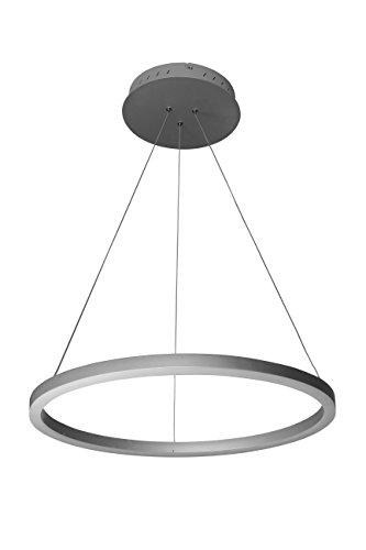 VONN VMC31640AL Modern LED Circular Chandelier Lighting with Adjustable Hanging Light, Silver