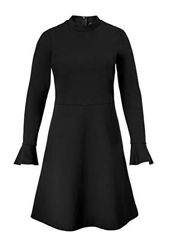 Ausgestellt Schwarz Schnitt Jerseykleid Hallhuber Geschnittenes Ausgestellter n0qdaWawR
