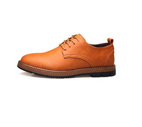 Porter De Boucle Souple Pointy Rond Lerther Cérémonie Porter Vêtements Coton Jeunesse Hommes Fond Plat Yellow Ceinture Chaussures IqHw4YqA
