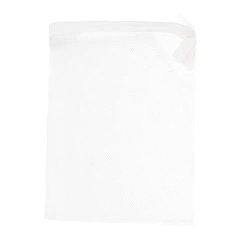 White 8' Hole - Kloud City 10PCS 8'' x 6'' White Color Fish Tank Filter Mesh Bags with Plastic Zippers , Aquarium Pond Filter Bag