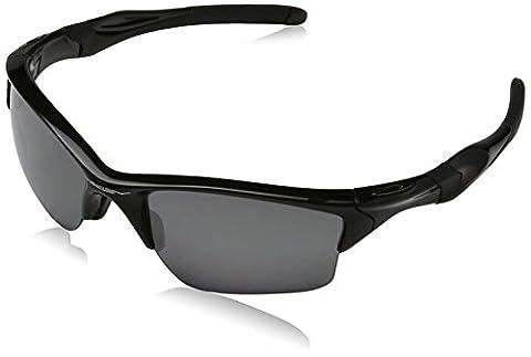 Oakley Mens Half Jacket 2.0 XL OO9154-05 Polarized Sunglasses,Polished Black Frame/Black Iridium Polarized Lens,one - 2.0 Rx Eyewear