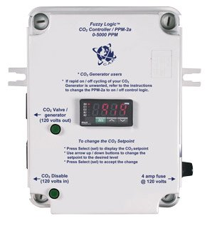 Co2 Ppm Controller (REFURBISHED! C.A.P PPM-2a Hydroponics Fuzzy Logic CO2 PPM Monitor Controller CAP)