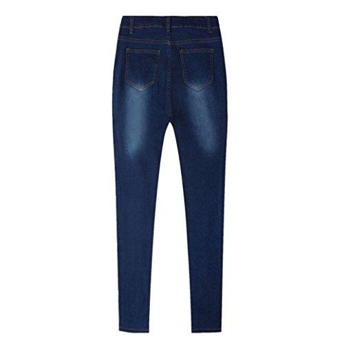 Vaqueros Pantalones LHWY Alta Cintura Rotos Pantalones Mujer Vaqueros Tejanos De Skinny Push Up UAI4qHIS