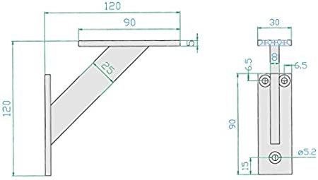 240mm, Alu Regaltr/äger Wand Regal Halterungen Metall Aluminium Deko Regal Halterung 4-teilige Winkel Unterst/ützung Wandkonsole Schwerlasttr/äger Regalst/ützen 2 St/ück System F/ür Regale
