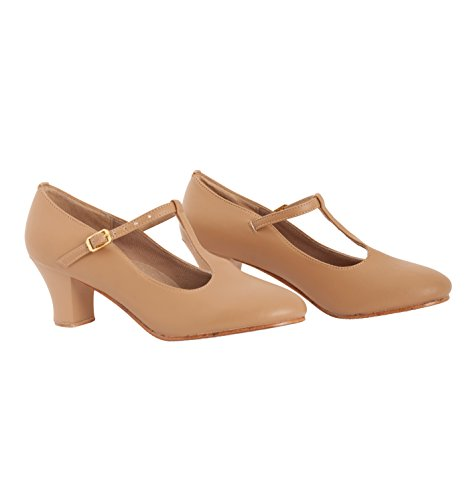 Adult 2 T-Strap Character Shoes,T3300 Tan