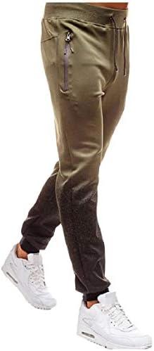 GodeyesW メンズラウンジポケットプラスサイズミッドウエストジッププリントジョギングパンツ