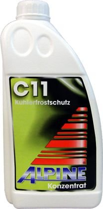 ALPINE Frostschutz Kü hler Kü hlerfrostschutz Konzentrat 1, 5L C11 G11 GELB
