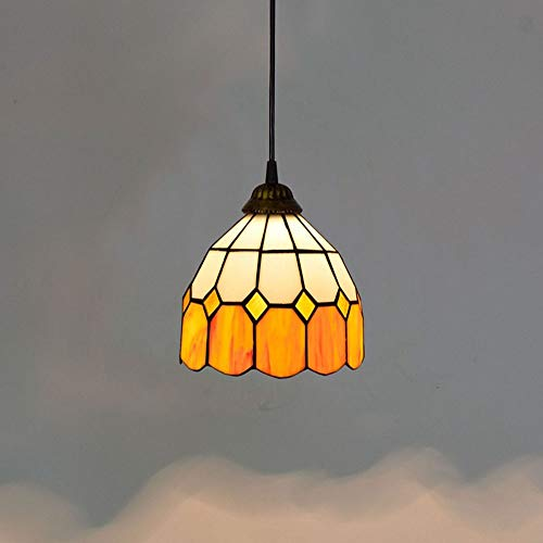 Xihouxian Warm Orange, Creative Simple, Meal, Hall Café, Cyber Cafe, Hot Pot Restaurants, Small Chandeliers, Stained Glass, Elegant and Beautiful. C40 ()