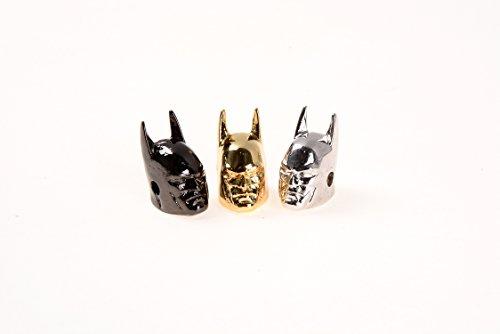 GOODBEAD 2pcs Batman Head Shaped Spacer Bead| DIY Necklace, Choker, Bracelet | 7x13mm