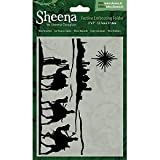 Sheena Festive Embossing Folder- Wise Travellers 5x7'' SD-XEF-Wise