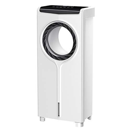 31LrXMTY7BL. SS500 : la electricidad del ventilador sin aspas consume la mitad de la energía de un ventilador convencional, la vida laboral es más larga. Aire 100% natural, te hace sentir cómodo y fresco a través del flujo de aire constante. : control remoto infrarrojo completo, control remoto de 6 m, disfrute inteligente del hogar. Ventiladores sin cuchilla que oscilan la sincronización remota, sacudiendo la cabeza, 30/60/90/120 minutos. : el enfriador de aire de escritorio sin cuchillas cortando el aire significa que el flujo de aire es suave, sin golpes desagradables. Brisa suave que lo hace seguro para niños y mascotas.