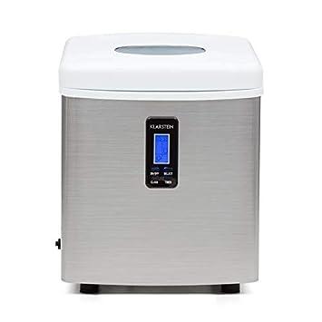 Klarstein Mr. Silver-Frost • Machine à glacons • Réservoir d'eau de 3,3L • 150W de puissance • Fonctionnement silencieux • Sans arrière goût • Sans CFC • Facile à nettoyer • Blanc