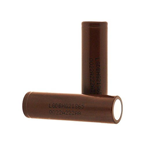 LG INR18650 HG2 High Drain Li-ion 3.7V 20A 3000mAh Rechargeable Flat Top Battery, (2 Pcs) by M&A BD Electronics
