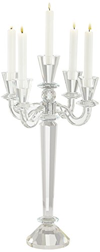 Universal Lighting and Decor Del Aire Crystal Candelabra Candle Holder - Glass Candelabra