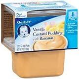 gerber baby food case of 8 - Gerber NatureSelect 2nd Foods Vanilla Custard with Banana, 7 Ounce - 8 per case.