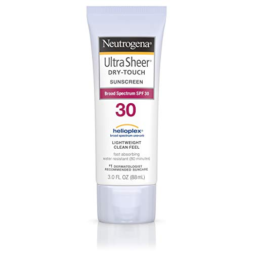 Neutrogena Ultra Sheer Dry-Touch Water Resistant and Non-Greasy Sunscreen Lotion with Broad Spectrum SPF 30, 3 fl. oz, Pack of 2